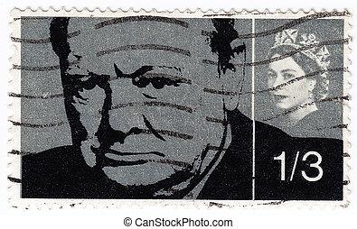 女王, 切手, ウィンストン, 印刷される, ∥ころ∥, (r), churchill, イギリス, -, 提示, 1965, nd, エリザベス, :