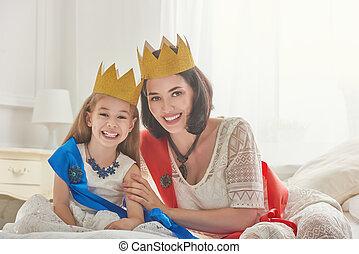 女王, 王冠, 金, 王女