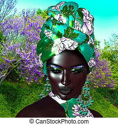女王, beauty., ファッション, アフリカ