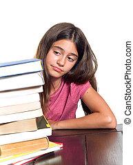 女生徒, 困難, 勉強
