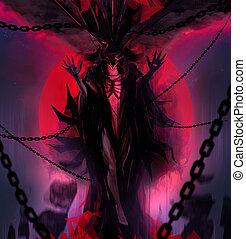 女神, 悪魔, 鎖