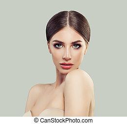 女, きれいにしなさい, 美しさ, 若い, 待遇, 新たに, 美容術, 美顔術, 皮膚, skin., エステ, 心配