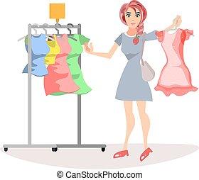 女, ∥で∥, cloths.