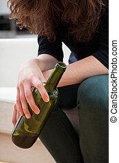 女, びん, 保有物, ワイン