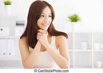 女, アジア人, 美しい, 若い