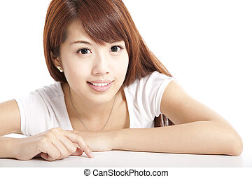 女, アジア人, 美しさ, 若い