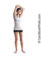 女, アジア人, 運動