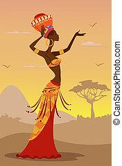 女, アフリカ
