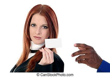 女, カード, 人