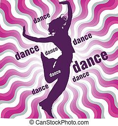 女 シルエット, ダンス