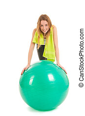 女, スポーツ, ボール