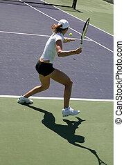 女, テニス
