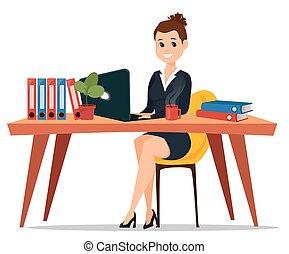 女, テーブル。, ビジネス, モデル