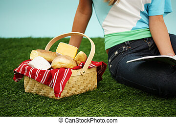 女, ピクニック