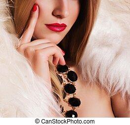 女, ファッション, 宝石類