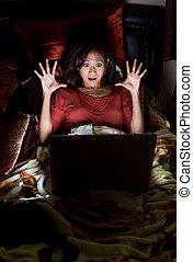女, フィリピン人, 彼女, ベッド, アジア人, 魅力的