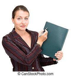 女, メモ用紙, ビジネス