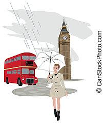 女, ロンドン