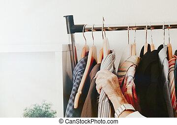 女, 中に, ∥, ファッション, 店, 小売り