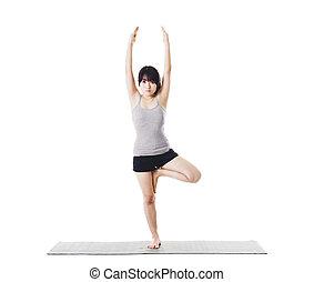 女, 中国語, yoga.