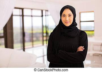 女, 交差させた 腕, muslim