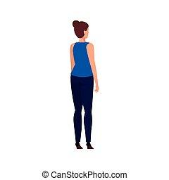 女, 優雅である, ビジネス, avatar, 特徴, 背中