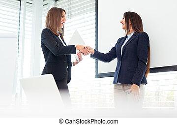 女, 労働者のオフィス, 2, ビジネス 肖像画