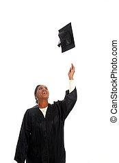 女, 卒業する