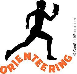 女, 単語, orienteering