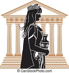 女, 寺院, romane, patrician