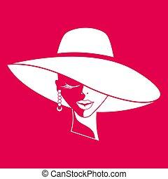 女, 帽子