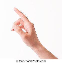 女, 感動的である, スクリーン, 事実上, 手