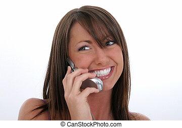 女, 携帯電話