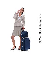 女, 旅行, ビジネス