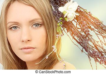 女, 春, 肖像画