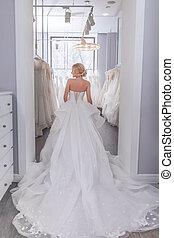 女, 服, 若い, 結婚式