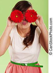 女, 楽しい時を 過しなさい, ∥で∥, 春の花
