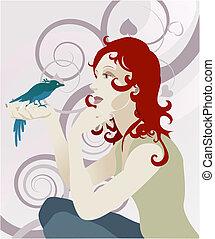女, 概念, 鳥
