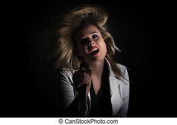 女, 歌うこと, ∥で∥, 毛, 空中に