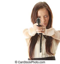 女, 武装させられた