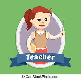 女, 紋章, 教師
