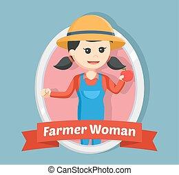 女, 紋章, 農夫
