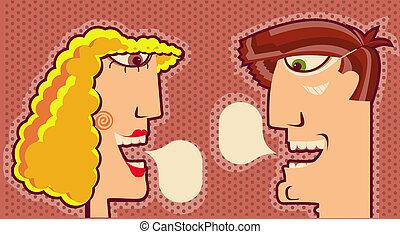 女, 肖像画, イラスト, text.vector, デザイン, 顔, 泡, 人