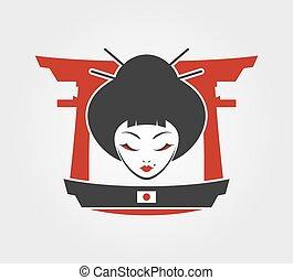 女, 芸者, 日本
