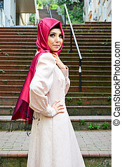 女, 若い, muslim