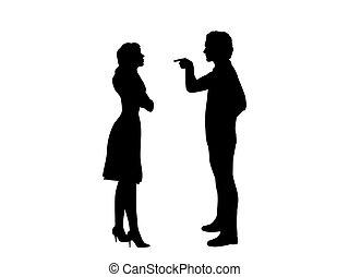 女, ∥責任を負わせる∥, シルエット, 人