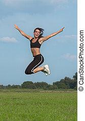 女, 跳躍