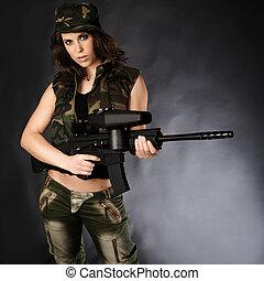 女, 軍隊