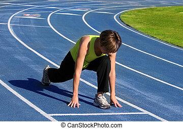 女, 運動