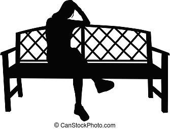 女, bench., モデル